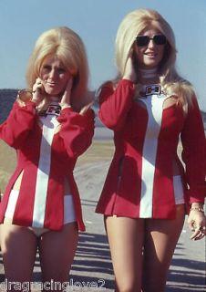 Linda Vaughn Miss Hurst Golden Shifter SEXY Outfit & a Hurstette