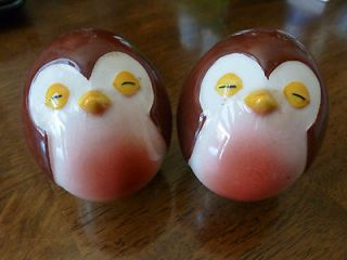Vintage Carlton Ware Salt and Pepper Shakers  Little Brown Bird