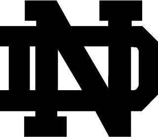 Notre Dame ND Logo   Vinyl Decal Sticker   Many Sizes