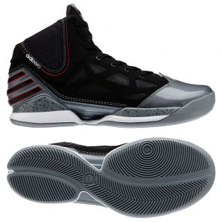 Adidas Adizero Rose 2.5 Derrick Lead//Black/Red Basketball Mens Shoes