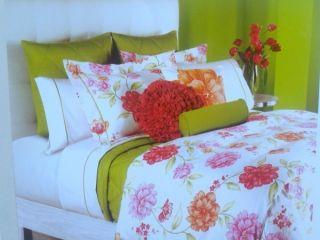 Hillcrest BLOOM Full/Queen Duvet Comforter Cover 3pc Set NEW Botanical