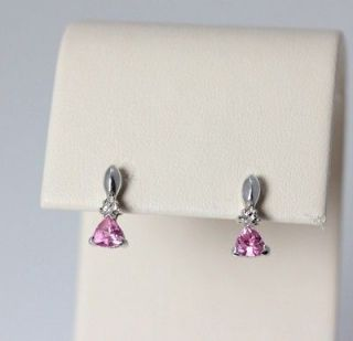 Pink, Pink, Pink 10K White Gold Pink Tourmaline Earrings