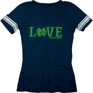 Notre Dame Fighting Irish Womens Love Moondust Ring Spun Football