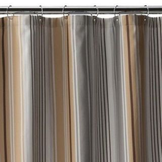 Monogrammed Shower Curtain Brown On PopScreen