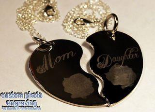 Mother Daughter Split Heart Necklace Set