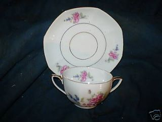 VICTORIA CHINA CUP AND SAUCER CZECHOSLOVAKIA