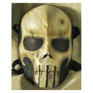 Cactus Hobby Custom Airsoft Wire Mesh Punisher Mask ( Tan )