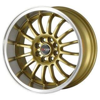 15 DRAG DR41 GOLD RIMS WHEELS 15x7 +10 4x114.3 COROLLA AE86 240SX