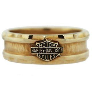 Harley Davidson 10k Yellow Gold Wedding Band Ring