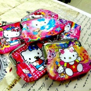 A0148 x Hello Kitty Purse Coin Bag Pouch Metal Clasp Wallet PVC