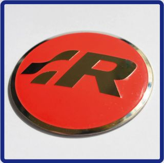VW R Line Steering Wheel Badge *RED* Logo Sticker Emblem GTI