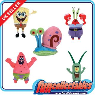 Ty Spongebob & Friends   Choose Your Character Soft Plush Toy
