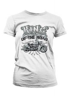 King Of The Road Motorcycle Biker Chopper Bike Girls Juniors T shirt