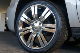 2009 GMC YUKON DENALI 24 WHEELS RIMS BRILLIANT CHROME FINISH SIERRA