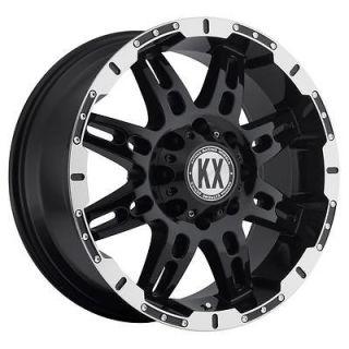 17 inch KX offroad CP34 black wheels rims 5x5.5 5x139.7 +10 ram 1500