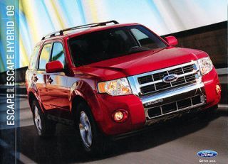 2009 Ford Escape and Hybrid 32 page Original Sales Brochure