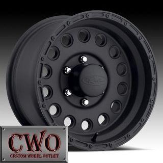 16 Black Raceline Rock Crusher Wheels 8x165.1 8 Lug Chevy GMC Dodge