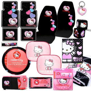 Hello Kitty Car Seat Covers Auto Accessories Set  15PC