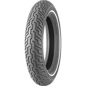 MT90B16 Dunlop Harley Davidson D402 Slim White Wall Front Tire 302191