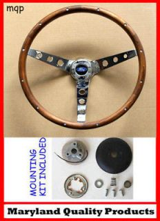 F100 F250 F350 Grant Steering Wheel Wood 15 (Fits 1965 Ford Falcon