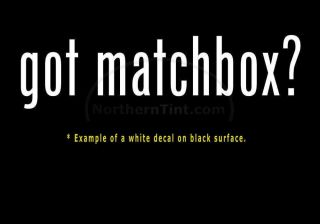 got matchbox? Vinyl wall art truck car decal sticker