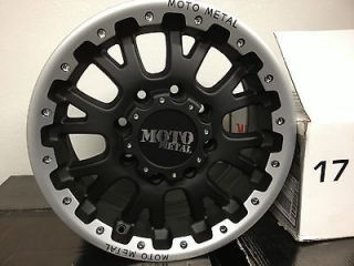 17 Inch Black Moto Metal Wheels Rims Ford Super Duty F250 F350