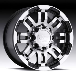 17 inch Vision Warrior Black Wheels Rims 6x135 +25