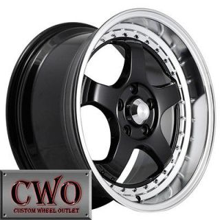 18 Black Konig SSM Wheels 5x114.3 5 Lug Maxima Eclipse Altima Lexus