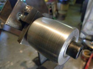 Aluminum tracking and tension wheel for belt grinder, knife making 1