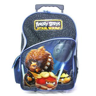 Birds Star Wars Rolling Trolley Blue Backpack Rucksack 16 with wheels