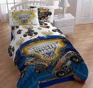 Teen Boys MONSTER JAM Trucks FULL/DOUBLE 5P Comforter Bedding Set
