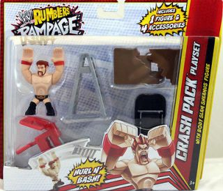 SHEAMUS W/ CRASH PACK PLAYSET   WWE RUMBLERS RAMPAGE MATTEL TOY ACTION