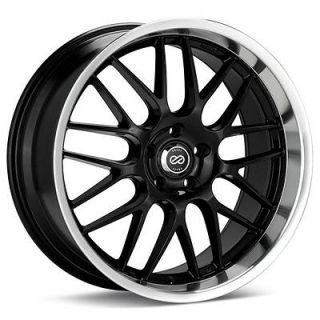 18 ENKEI LUSSO BLACK RIMS WHEELS 18x8 +40 5x114.3 CIVIC RSX ECLIPSE