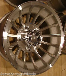 15x8.5 Fenton Fan Jet II Turbine Mag Wheels Rims 5x5.5 Ford Bronco F