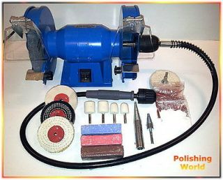 200W Bench Grinder with Flexi Shaft (Metal / Jewellery / Craft