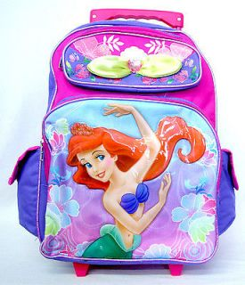 Princess The Little Mermaid small 16 Rolling Backpack stroller wheels