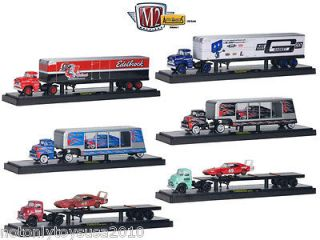 Newly listed 1:64 M2 Machines Auto Haulers Set of 6 Semi Trucks