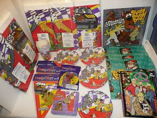 Large Lot of Cartoon Network Party Supplies   Wacky Racing Races
