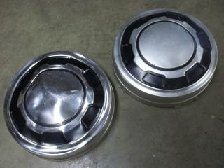FORD TRUCK F350 2WD DOG DISH HUB CAPS/USED PAIR/OEM TWO 4 16 WHEELS