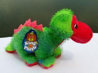 King Plush Dinosaur Dino Green Blue Pink  in USA