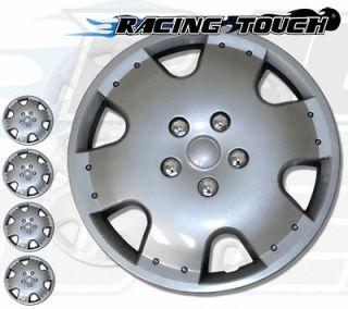 Metallic Silver 4pcs Set #720 15 Inches Hubcaps Hub Cap Wheel Cover