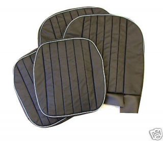 bek164aw MGA ROADSTER BLACK/WHITE LEATHER SEAT COVERS   PAIR