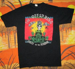 vtg 90s THE OFFSPRING t shirt SOCAL PUNK ROCK BAND CONCERT TOUR ixnay