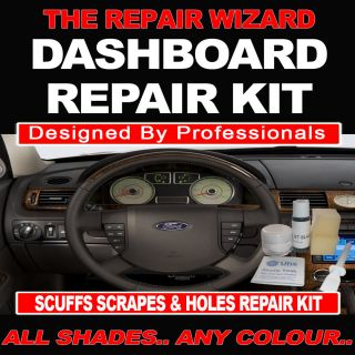 NEW ALL SHADES OF BLACK DASHBOARD REPAIR KIT FILLS HOLES AND CRACKS