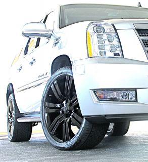 2013 Cadillac Escalade 24 Wheels Rims Phantom Black Finish 2007 2009