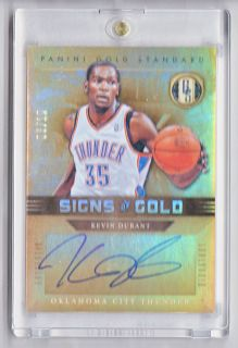 Kevin Durant 2011 12 Panini Gold Standard Signs of Gold Auto 05 10
