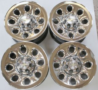 of 4 2013 Chevy Silverado 1500 17 Chrome Clad Steel 6 Lug Wheels Rims