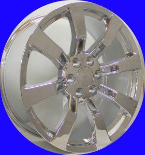 2007 2013 New Set of 22 Chrome Escalade Wheels for GMC Sierra Denali
