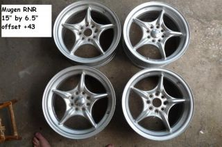 JDM Mugen Weapon RNR 15 Wheels Rims Civic EG6 CRX EF9