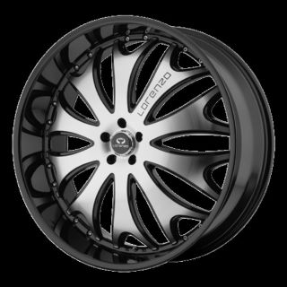 24 Wheels Rims Lorenzo WL29 Black Navigator F150 Ford